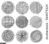 doodles set. scribble... | Shutterstock .eps vector #564475324