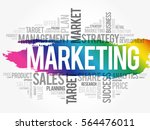 marketing word cloud collage ... | Shutterstock .eps vector #564476011