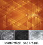 triangular abstract background. ...   Shutterstock .eps vector #564476101
