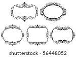 set of vintage frames. vector... | Shutterstock . vector #56448052