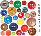 Set Of Sewing Buttons Isolated...