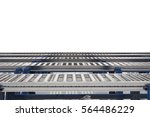 3d rendering empty conveyor belt | Shutterstock . vector #564486229