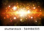 lens flare shining brown vector ... | Shutterstock .eps vector #564486505