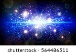 lens flare shining blue vector... | Shutterstock .eps vector #564486511