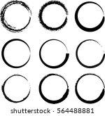 vector beautiful round handmade ...   Shutterstock .eps vector #564488881