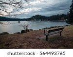 Scenic View On A Bench In A...