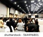 blurry people sit on the floor | Shutterstock . vector #564496801