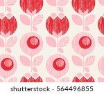 seamless geometric retro... | Shutterstock .eps vector #564496855