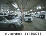 abstract blur parking car... | Shutterstock . vector #564500755