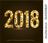 happy new year and merry... | Shutterstock .eps vector #564500869