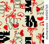 art vintage letter pattern... | Shutterstock .eps vector #564505765