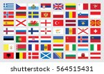 flags of europe . vector