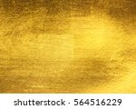 shiny yellow leaf gold foil... | Shutterstock . vector #564516229