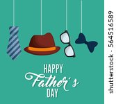 happy fathers day letters... | Shutterstock .eps vector #564516589