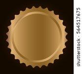 gold blank metallic label or...   Shutterstock .eps vector #564517675