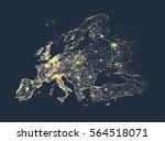 vector illustration of europe... | Shutterstock .eps vector #564518071