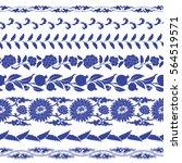 chinese porcelain seamless...   Shutterstock .eps vector #564519571