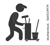 cleaning service worker... | Shutterstock .eps vector #564519979