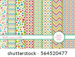 set of 8 seamless background.... | Shutterstock .eps vector #564520477