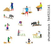 farmer shape vector design | Shutterstock .eps vector #564521161