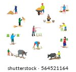 farmer shape vector design | Shutterstock .eps vector #564521164