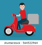 scooter food delivery related... | Shutterstock .eps vector #564522964