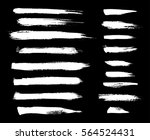 brush  chalk strokes. white ink ... | Shutterstock .eps vector #564524431