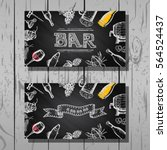 design business card of bar and ... | Shutterstock .eps vector #564524437