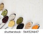 decorative border of assortment ... | Shutterstock . vector #564524647