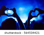 couple showing hearts with... | Shutterstock . vector #564534421