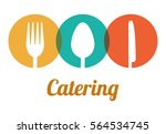 catering related icons emblem... | Shutterstock .eps vector #564534745