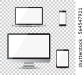 Realistic Device Flat Icons ...