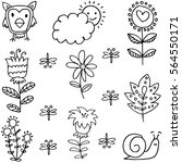 vector illustration of spring... | Shutterstock .eps vector #564550171