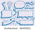 hand drawn speech and thought... | Shutterstock .eps vector #56455021