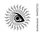 eye sunburst logo | Shutterstock .eps vector #564552721