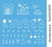 mega pack of weather icons with ...   Shutterstock .eps vector #564554509
