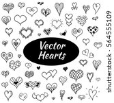 hand drawn hearts | Shutterstock .eps vector #564555109