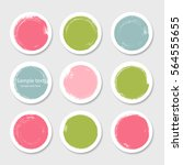 colored round paper circle... | Shutterstock .eps vector #564555655