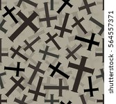 seamless grey christian cross... | Shutterstock .eps vector #564557371