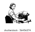 retro secretary   retro clip art | Shutterstock .eps vector #56456374