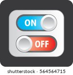 toggle switch icon  on  off and ... | Shutterstock .eps vector #564564715