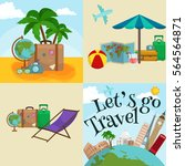 travel tourism icons... | Shutterstock . vector #564564871