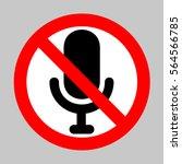 no microphone sign illustration....