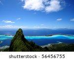 bora bora and otemanu mt.   Shutterstock . vector #56456755