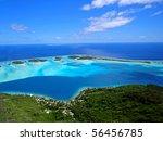 bora bora   aerial view   Shutterstock . vector #56456785