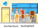 cartoon composition with...   Shutterstock .eps vector #564568969
