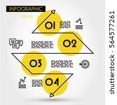 yellow linear infographic zig... | Shutterstock .eps vector #564577261