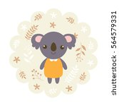 koala bear. vector illustration ... | Shutterstock .eps vector #564579331