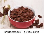 Chocolate Flakes In Red Bowl