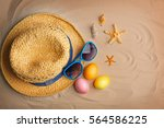 Easter Eggs With Sunglasses An...